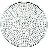 Winco AMS-12, Aluminum Mega Pizza Screen, 12-Inch Inner Diameter and 12.75-Inch Outer Diameter Pizza Crisper, Perforated Pizza Disk
