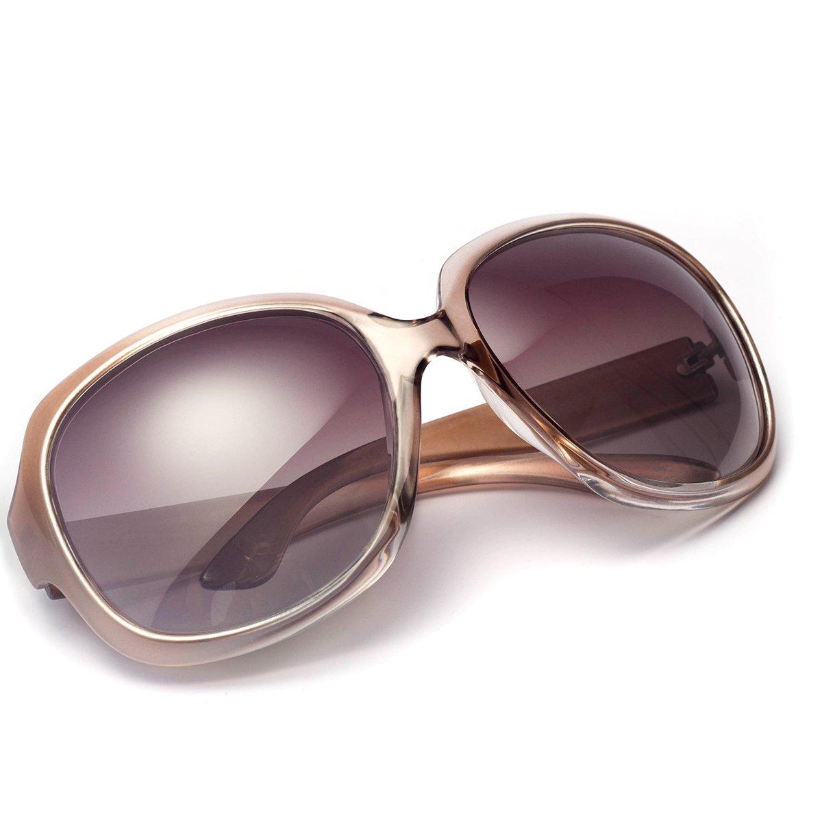 Polarized Sunglasses for Women, AkoaDa UV400 Lens Sunglasses for Female Fashionwear Pop Polarized Sun Eye Glass(Champagne) by AkoaDa