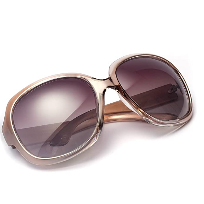 Polarized Sunglasses for Women, AkoaDa UV400 Lens Sunglasses for Female Fashionwear Pop Polarized Sun Eye Glass(Champagne) best women's polarized sunglasses