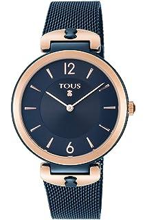 Reloj TOUS S-Mesh bicolor acero/IP rosado y azul Ref:800350835