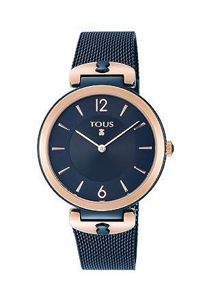 Reloj TOUS S-Mesh bicolor acero/IP rosado y azul Ref:800350835: Amazon.es: Relojes