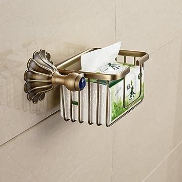 hiendure® Wandhalterung Rolle Toilettenpapier Draht Korb Toilet ...