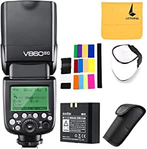 Godox V860II-C TTL Flash for Canon 2.4G Wireless Transmission 1/8000s HSS with High Performance Li-on Battery 1.5S Recycle Time 650 Ful Power Pops Camera Flash Speedlite for Canon EOS Camera