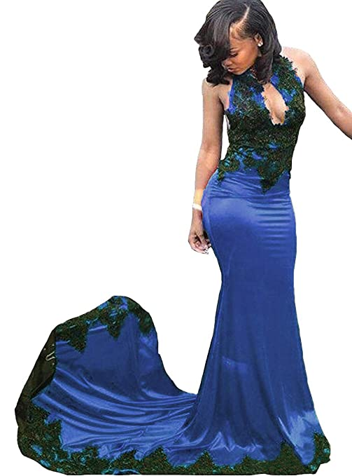 1e43f482785 UGLY Womens Sexy Mermaid Evening Gowns with Long Train Sleeveless Prom  Dresses UG088 at Amazon Women s Clothing store