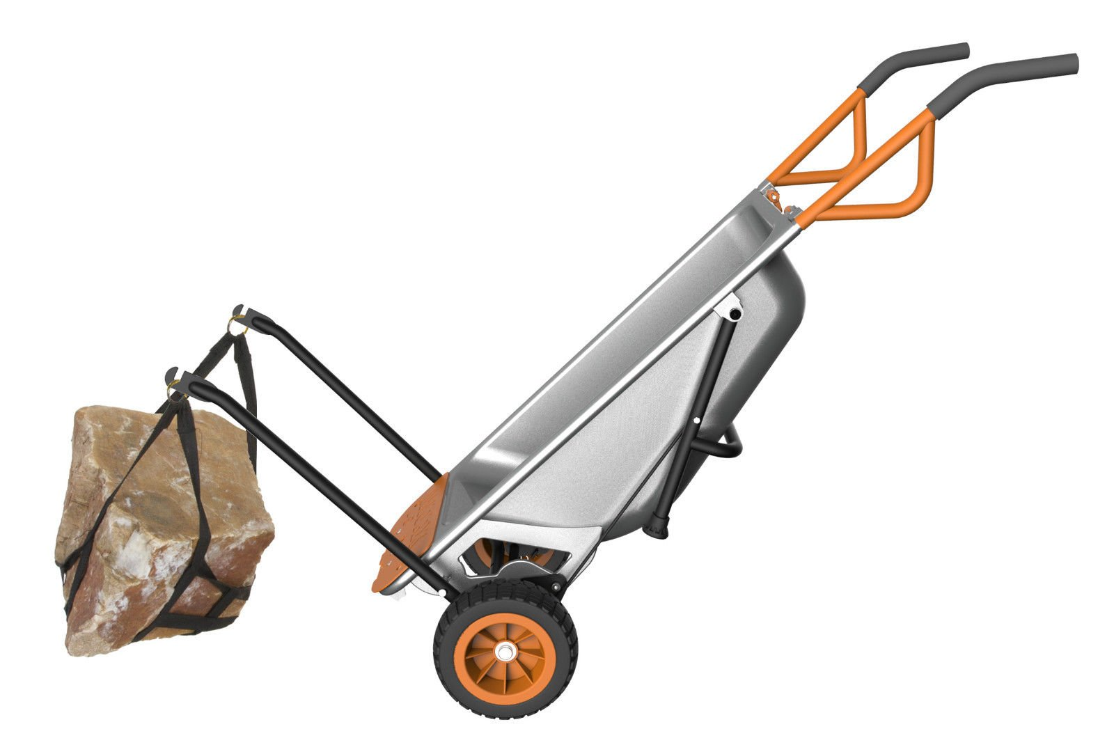 Aero Cart 8-in-1 Multi-Function Wheel Barrow Yard Cart
