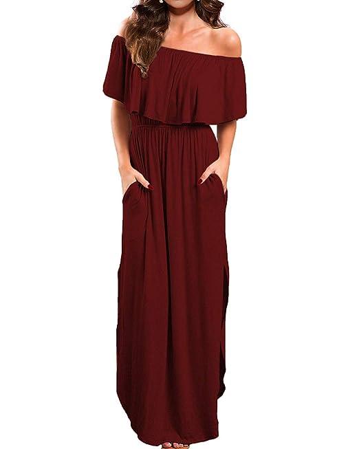 Abravo Mujeres Casual Vestido Playa Elegante Fiesta Cóctel Vestido Suelto Largo Maxi Estidos Sin Mangas Vintage Vestido