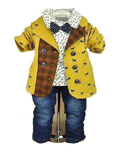 Amazon.com: bebé Boys Casual 3 Piezas (Chaqueta + camisa ...