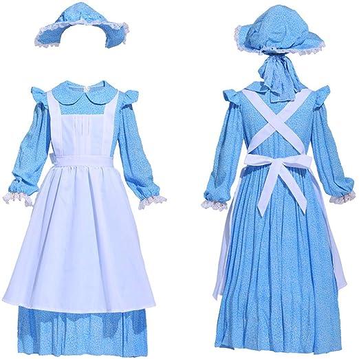 Amazon.com: Icevog Laura Ingalls Wilder - Vestido vintage de ...