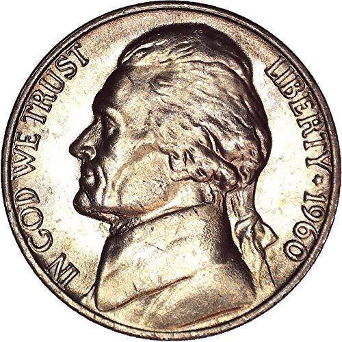 1960 No Mint Mark Jefferson Nickel 5C Seller Brilliant Uncirculated (Ngc Nickel Mint Jefferson)