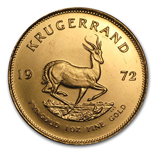 1972 ZA South Africa 1 oz Gold Krugerrand 1 OZ About Uncirculated ()