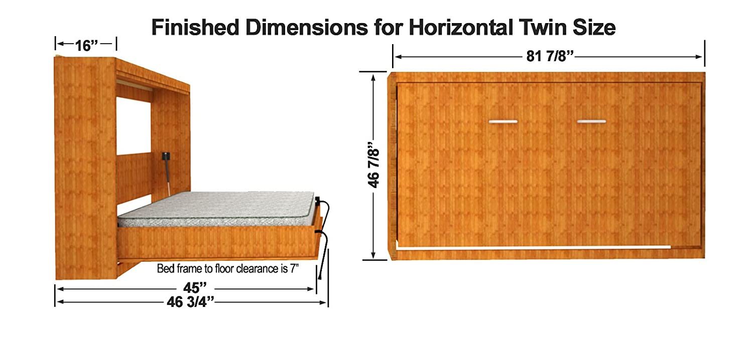 murphy design ideas home bed twin horizontal kit