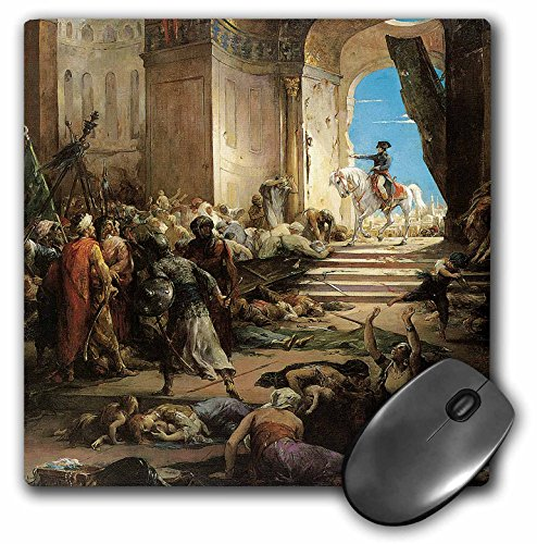 Bonaparte Collection - 3dRose BLN Middle Eastern and Northern African Fine Art Collection - Bonaparte in the Great Mosque of Cairo by Henri-Leopold Levy - MousePad (mp_127463_1)