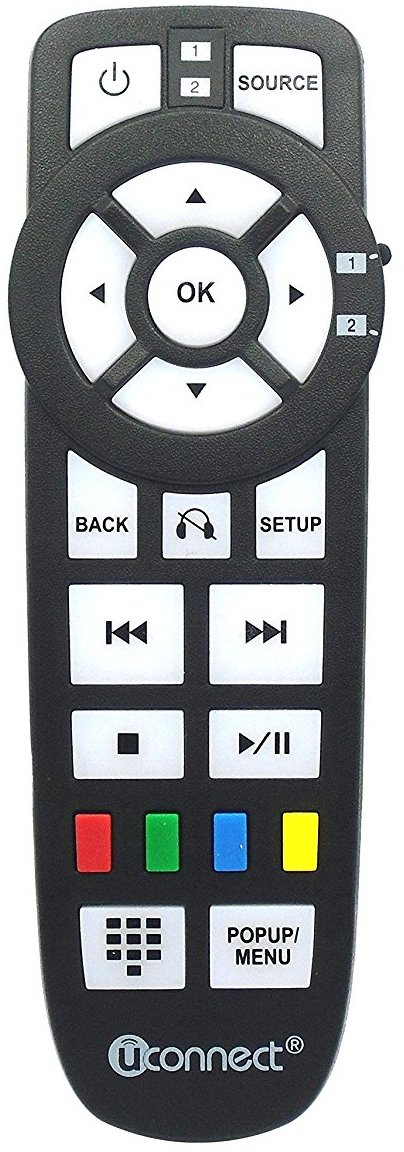 2013 2014 Chrysler Dodge Jeep Uconnect DVD Entertainment Remote Control part 05091247AA by U-Connect