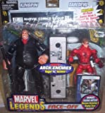 Marvel Legends Face Off Series 1 Action Figure Twin Pack Kingpin Black Suit vs. Daredevil Unmasked Variant
