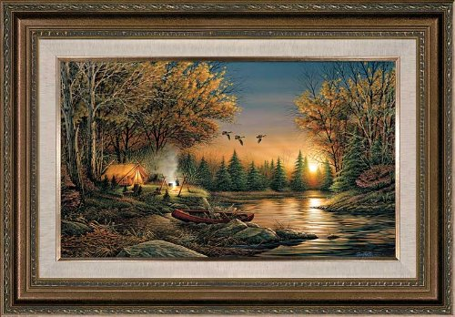 - Terry Redlin - Evening Solitude Framed Open Edition on Canvas