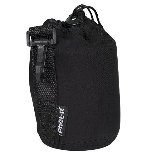 Phot-R Medium 10x14cm Thick Soft Neoprene Protective Travel Pouch Bag Case for DSLR Camera Lenses