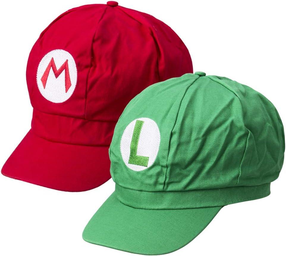 Greetuny 2X Gorra Mario Bros y Luigi,Disfraz de Adulto y Niños ...