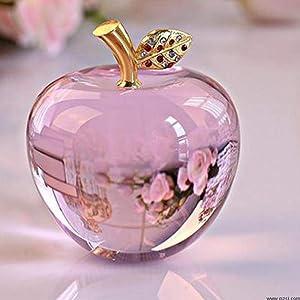 HKDHI Ornament Decoration 80MM Crystal Apple Wedding Crystal Ball Craft