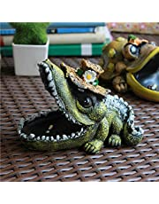 SDKKY Cartoon crocodile cenicero KTV cibercafés cenicero,sombrero de paja