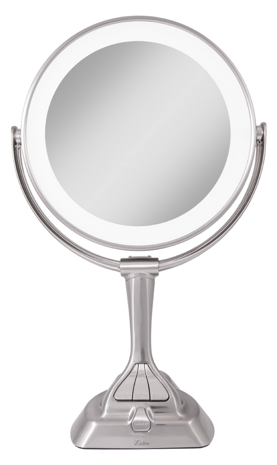 Amazon zadro led light dimmable dual sided vanity mirror amazon zadro led light dimmable dual sided vanity mirror satin nickel beauty aloadofball Image collections