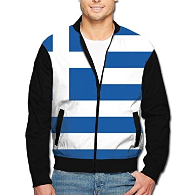4a463444c Amazon.com  SCOOLY Flag Of Greece Youth Long Sleeve Full Zip Jacket ...