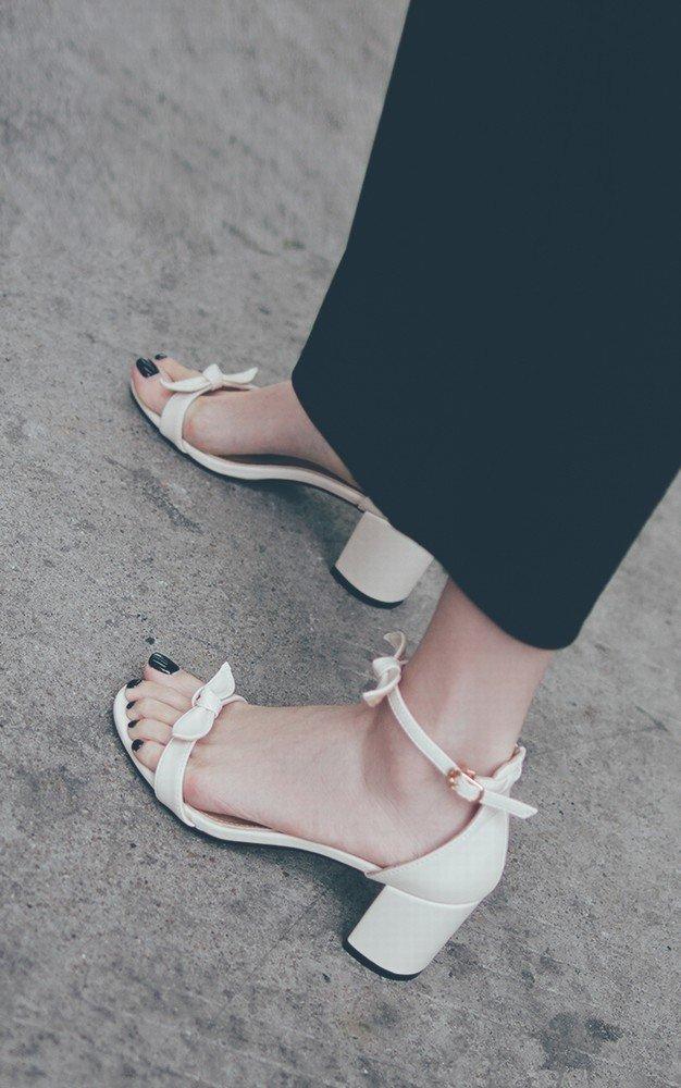 DIDIDD Bow Frauen Schuhe Schuhe Schuhe Roman Dick mit Einem Wort mit Fairy Schuhe EIN 36 3459f1