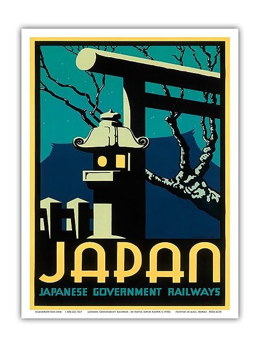"Cool Retro Travel Poster *FRAMED* CANVAS ART Spring Kyoto Japan 24x16/"""