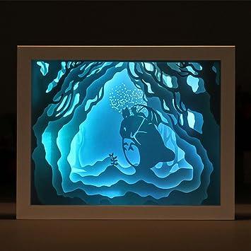 3d Light® Silhouette Oofay Led Perspective Sculpté Papier Ombre F1clKJT