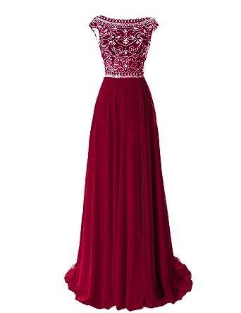 Amazon.com: Prom Queen Womens Elegant Long Bridesmaid Cap Sleeve Prom Evening Dresses: Clothing