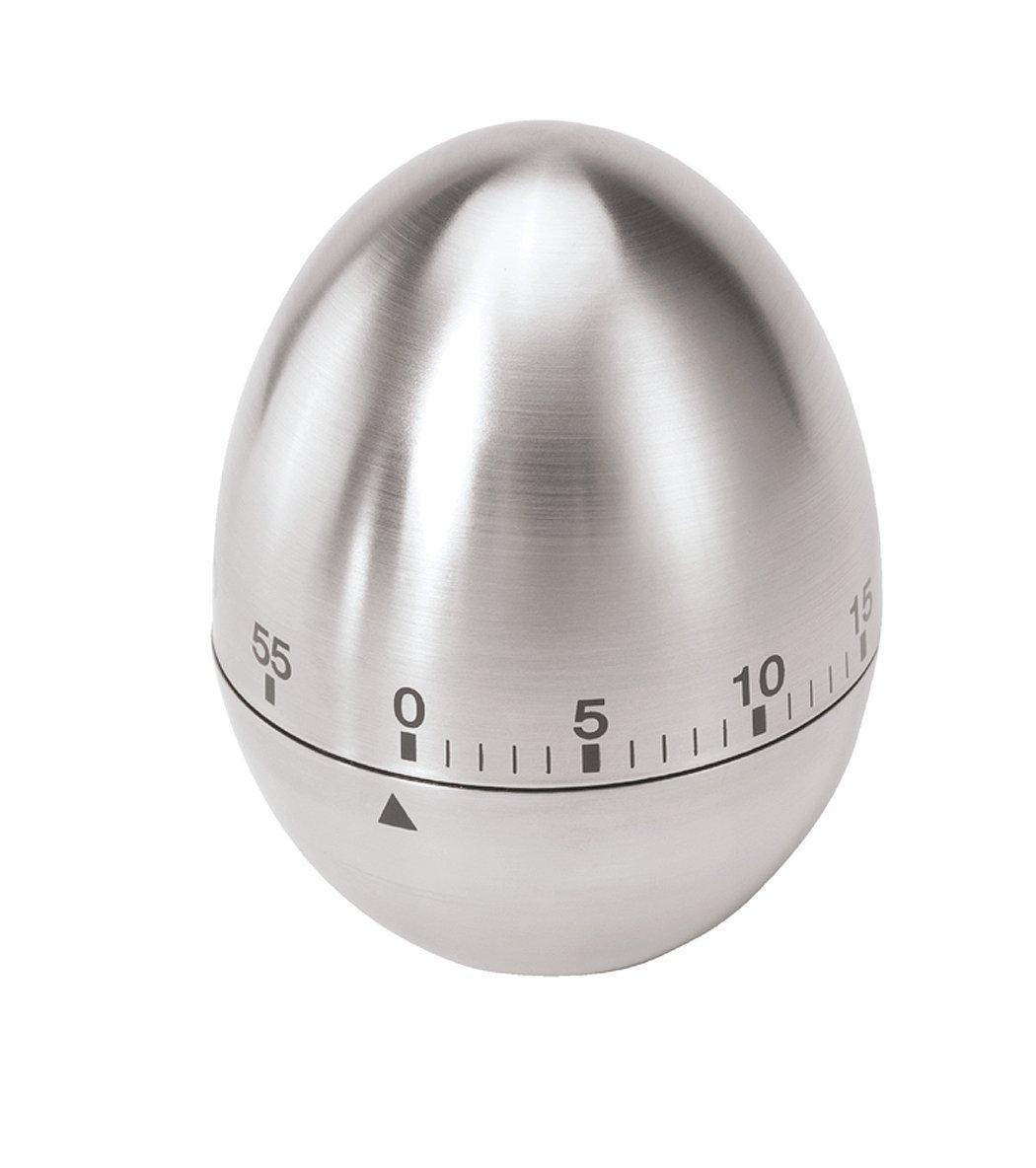 Oggi Egg Stainless Steel 60-Minute Kitchen Timer