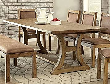 Fine Amazon Com Gianna Rustic Pine Dining Table Oversized By Download Free Architecture Designs Jebrpmadebymaigaardcom