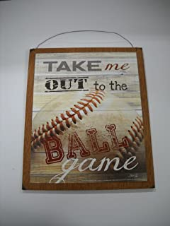 Perfect Take Me Out To The Ball Game Baseball Sports Wall Art Sign Boys Bedroom  Decor