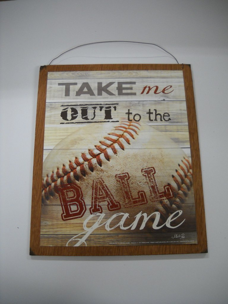 Amazon.com: Take Me Out To The Ball Game Baseball Sports Wall Art Sign Boys  Bedroom Decor: Home U0026 Kitchen