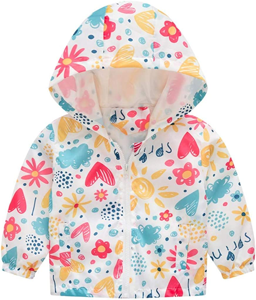 Weilov 12months-5years Toddler Kids Baby Girls Boys Cartoon Cat Car Spring Hooded Coat Jacket Tops Baby Kids Cute Cozy Track Jackets Birthday Halloween Christmas New Years Gift for Autumn and Winter