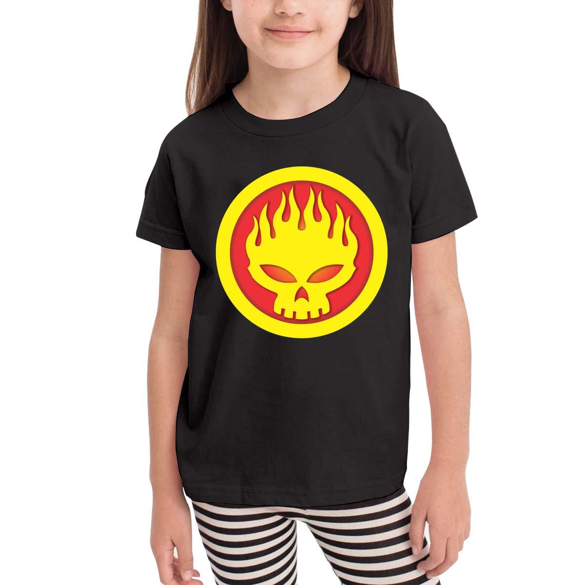 SuperLee Boys Girls Kids The Offspring Soft Short Sleeve T-Shirt Black