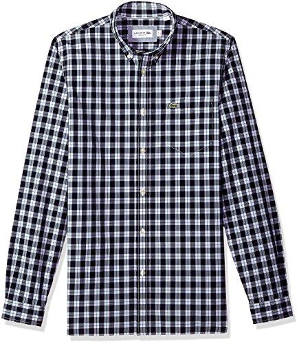 Lacoste Mens Long Sleeve Poplin Button Down Collar Reg Fit Woven Shirt, CH5804