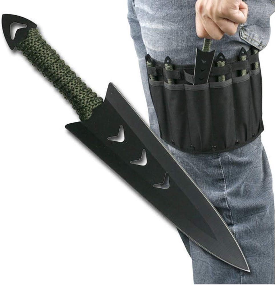 "Snake Eye Tactical Throwing Knife Set 6"" Sheath (6 Pcs)"