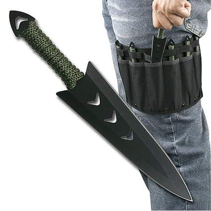 Amazon.com: Juego de cuchillos tácticos para tiro de ojos de ...
