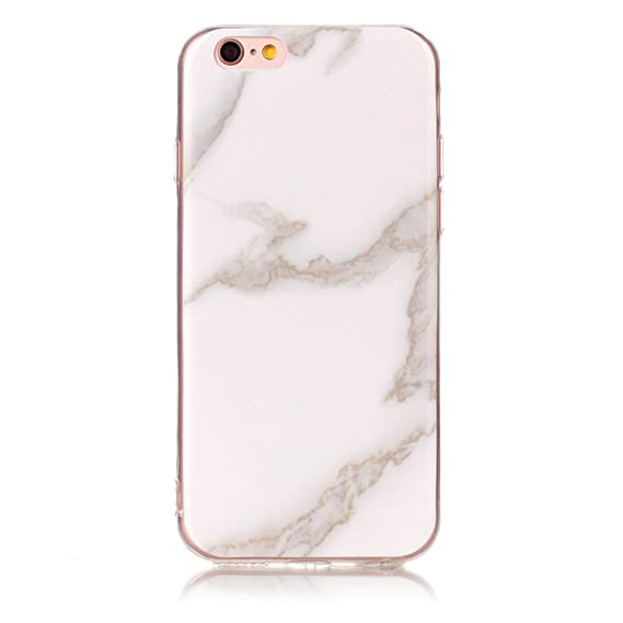 0b58ae6845d Amazon.com: Wigeo Silicone Phone Case Fundas For Apple iPhone 8 7 6 6S Plus  4S 5 5S SE 5C ipod touch 6 Soft Marble Stone Cover Capa D01G White2 For  7Plus or ...