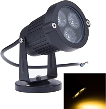 BLOOMWIN 4PCS Foco Proyector Exterior Foco LED con Base Lámpara Luz de Camino Blanco Cálido IP65 220V 3W Impermeable LED Bombilla Exteriores para Jardín Aire Libre Césped Patio Decoración: Amazon.es: Iluminación