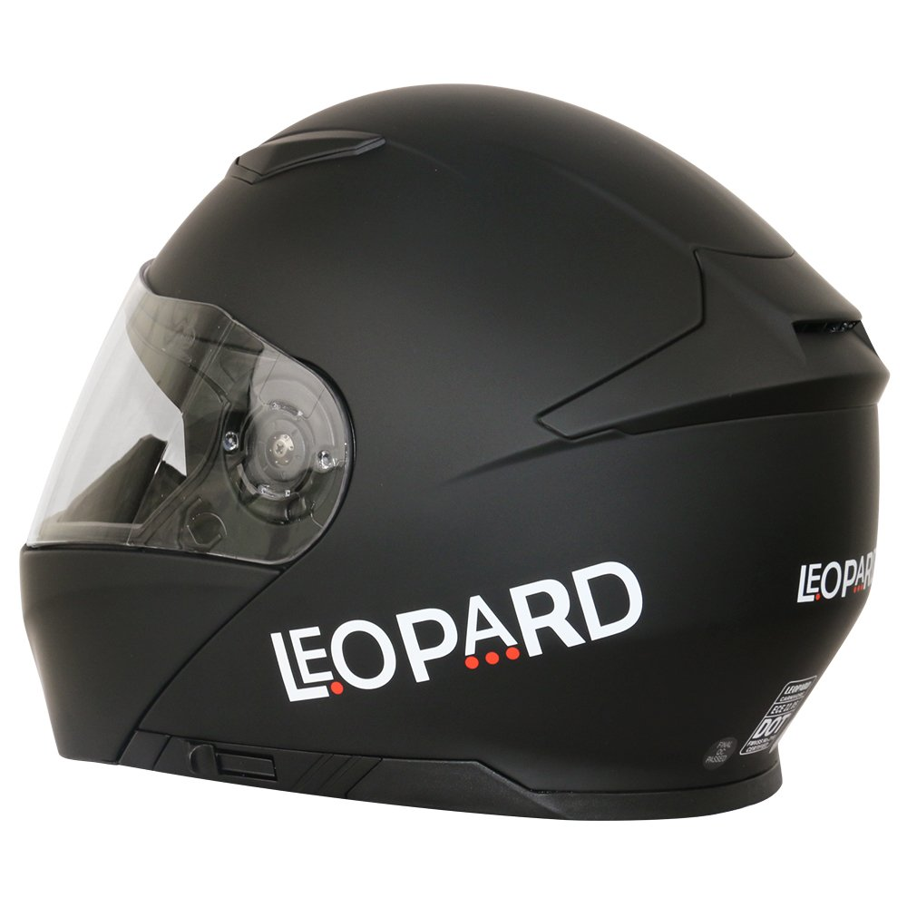 Rosso//Grigio//Nero XL 61-62cm Leopard LEO-888 Casco Modulare Integrale Moto Doppia Visiera Donna e Uomo Omologato ECE