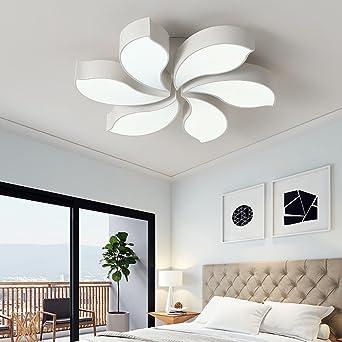 Style Home 64W LED Deckenlampe Kronleuchter Volldimmbar Mit Fernbedienung  80cm Groß Wohnzimmer Schlafzimmer Kinderzimmer U0027White
