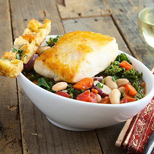 Chilean Sea Bass with White Bean and Kale Stew by Chef'd (Dinner for 4)
