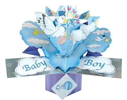 Amazon The Original Pop Ups 044 Baby Boy Birthday Card