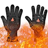 JCL BBQ Cooking Glove Extreme Heat Resistant oven gloves For Cooking, Grilling, Baking - Professional Indoor Outdoor Kitchen & Oven Accessories