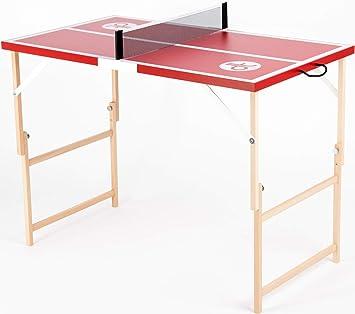 DISH TENNIS Mini Mesa de Ping Pong Rojo El Chile Picante ...