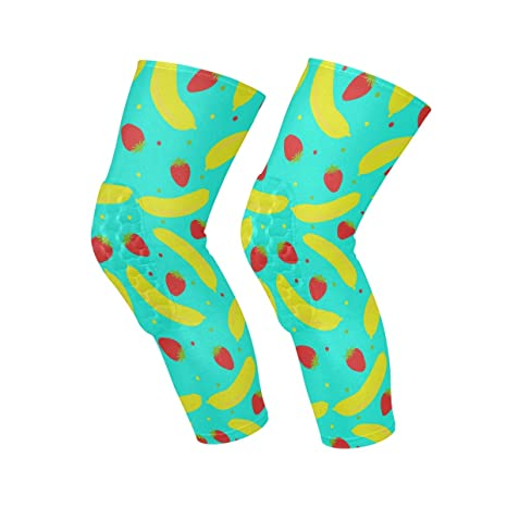 Amazon.com : NBTZ ZX Strawberry and Banana Knee Compression ...