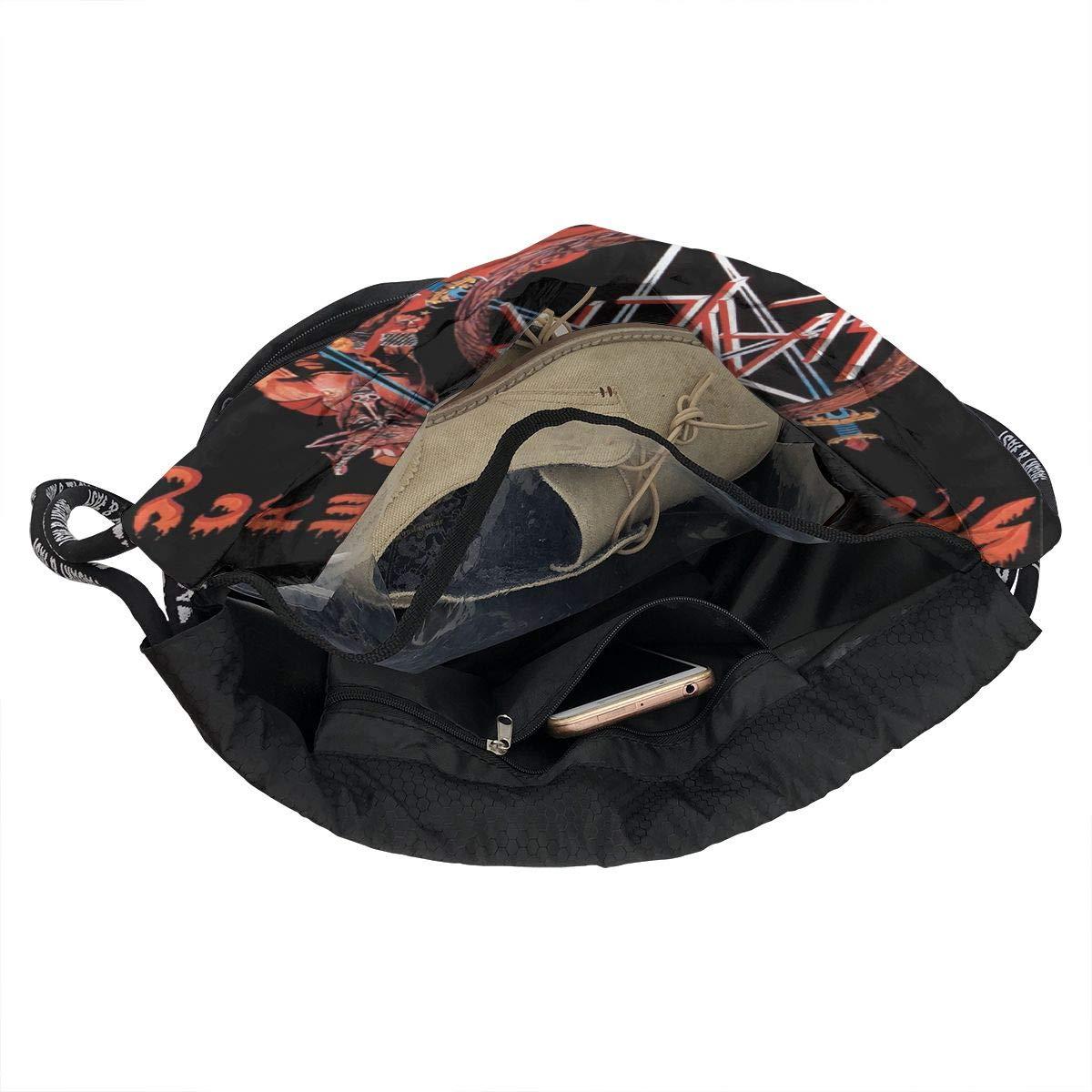 Chenjunyi Slayer Show No Mercy Drawstring Backpack Foldable Gym Tote Dance Bag for Swimming Shopping Sports Women Men Boys Girls