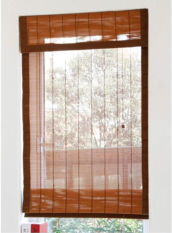 Persiana de bambú Persianas Romanas De La Ventana/del Techo De La Ventana, Persiana Enrollable del Rodillo del Bambú del Cuarto De Baño del Dormitorio, 60cm / 80cm / 100cm / 120cm /