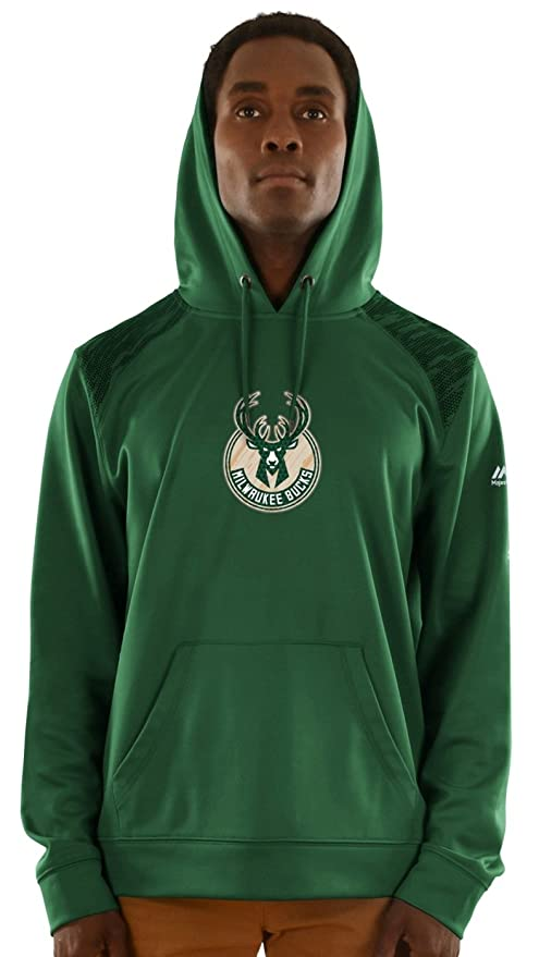 the best attitude 7f16d f5421 Amazon.com : Majestic Milwaukee Bucks Mens Team Color Armor ...